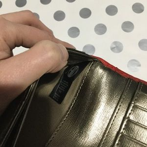 Fossil Bags - 🆕RED/GOLD FOSSIL WALLET!